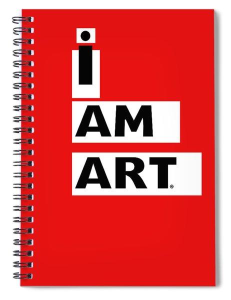 I Am Art Stripes- Design By Linda Woods Spiral Notebook