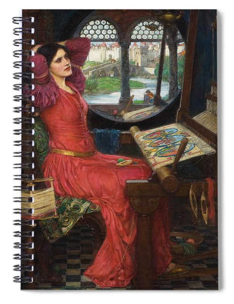 I Am Half Sick Of Shadows Said The Lady Of Shalott Spiral Notebook