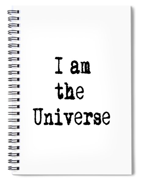 I Am The Universe Quote Prints, All Is One, Art Print Posters, Crown Chakra Spiral Notebook