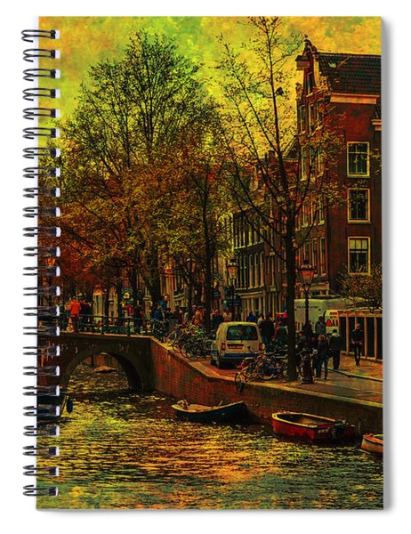 I Amsterdam. Vintage Amsterdam In Golden Light Spiral Notebook