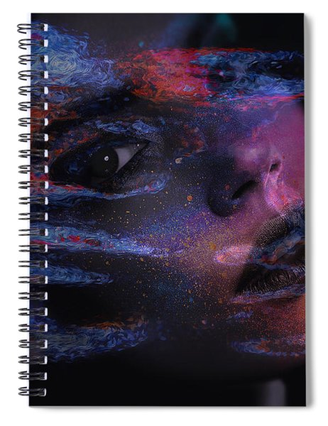 Spiral Notebook featuring the digital art I Breathe Art Therefore I Am Art by ISAW Company