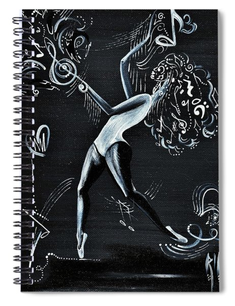 I Dont Care About The Words  I Just Listen To The Beat Spiral Notebook