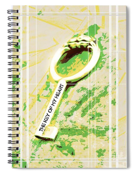 I Give You The Key Of My Heart Spiral Notebook