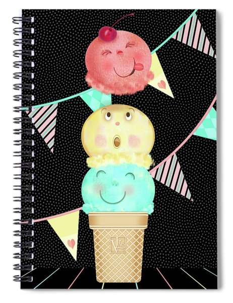 I Is For Ice Cream Cone Spiral Notebook