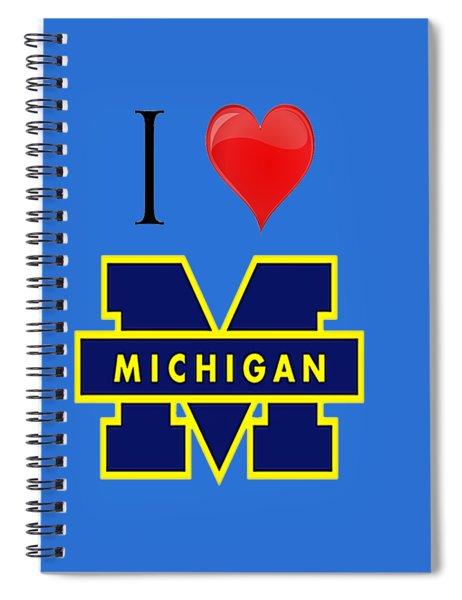 I Love Michigan Spiral Notebook