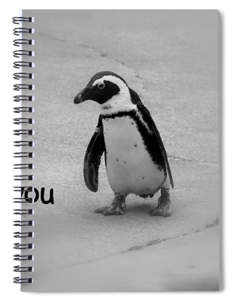 Spiral Notebook featuring the photograph I Miss You by Patti Whitten