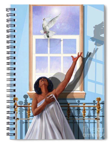 I Saw The Holy Spirit Descending Like A Dove Spiral Notebook