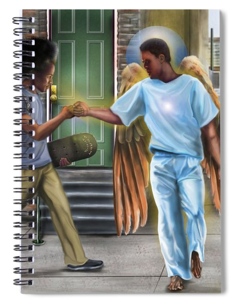 I Walk With Angels Spiral Notebook