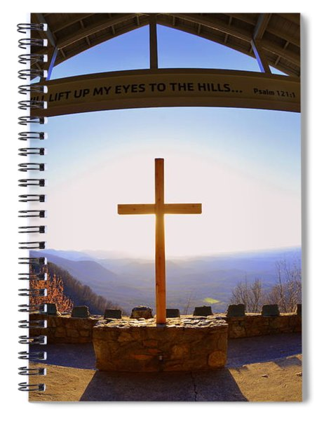 I Will Lift My Eyes To The Hills Psalm 121 1 Spiral Notebook