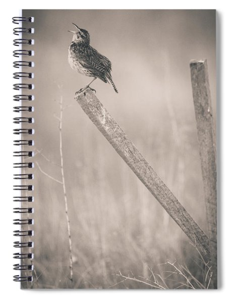 Spiral Notebook featuring the photograph I Will Sing A Song by John De Bord