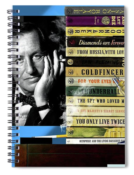 Ian Fleming, All Originals, 14 Novels Collection, James Bond Spiral Notebook
