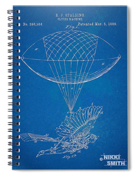 Icarus Airborn Patent Artwork Spiral Notebook