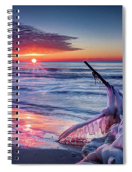 Ice Age Sunrise 1 Spiral Notebook