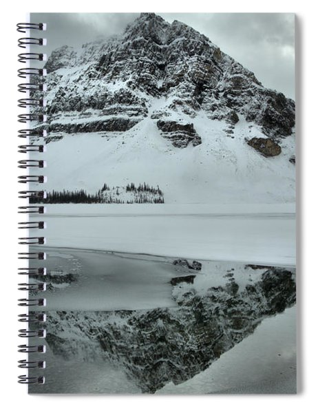 Ice And Fog At Crowfoot Mountain Spiral Notebook