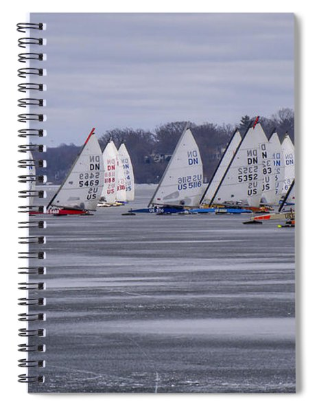 Ice Boat Racing - Madison - Wisconsin Spiral Notebook