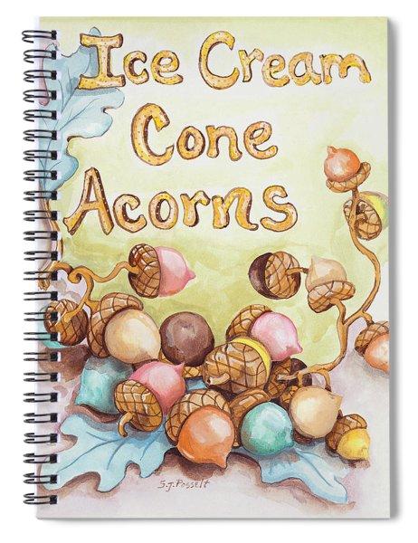 Ice Cream Corn Acorns Spiral Notebook