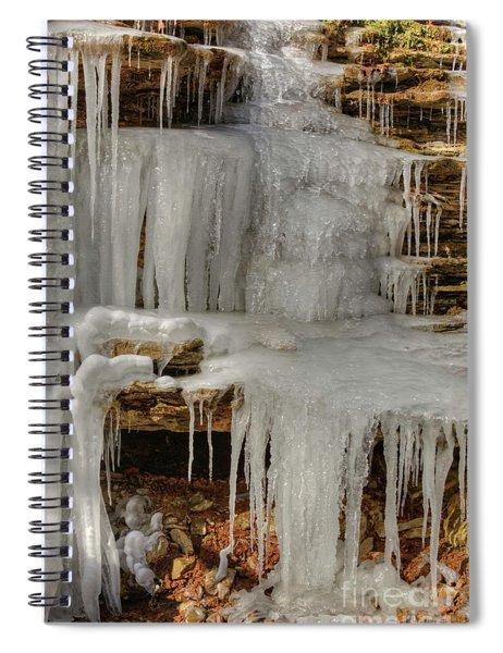 Ice Flow Spiral Notebook