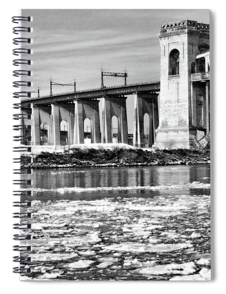 Ice Flows On The East River Spiral Notebook