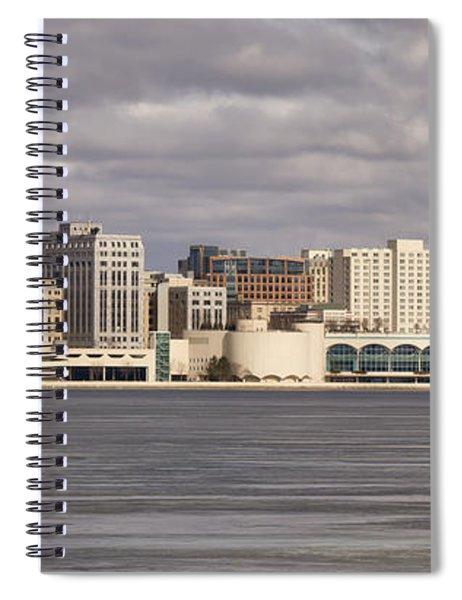 Ice Sailing - Lake Monona - Madison - Wisconsin Spiral Notebook