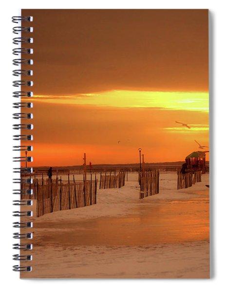 Iced Sunset Spiral Notebook