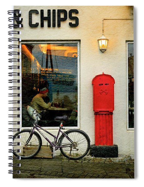 Iceland Fish And Chips Bicycle Spiral Notebook