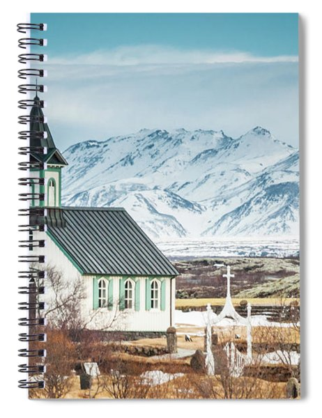 Icelandic Church, Thingvellir Spiral Notebook