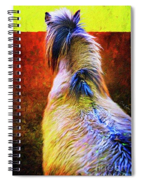 Icelandic Horse In Hester-stables 2  Spiral Notebook