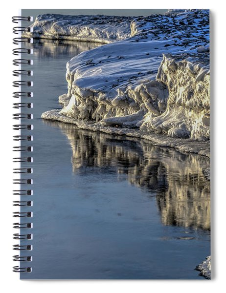 Spiral Notebook featuring the photograph Icey Reflection by Rod Best