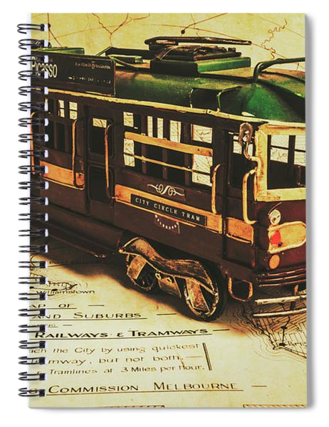Icon Melbourne Tram Art Spiral Notebook