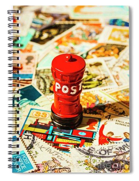 Iconic British Mailbox Spiral Notebook