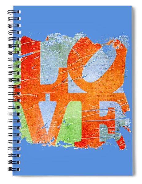 Iconic Love - Grunge Spiral Notebook