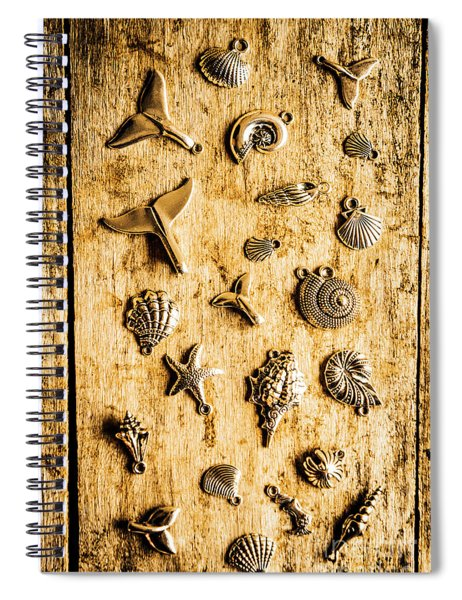 Icons In Nautical Elegance Spiral Notebook