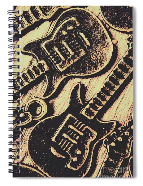 Icons Of Vintage Music Spiral Notebook