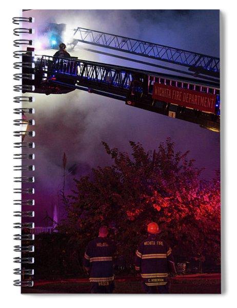 Ict - Burning Spiral Notebook