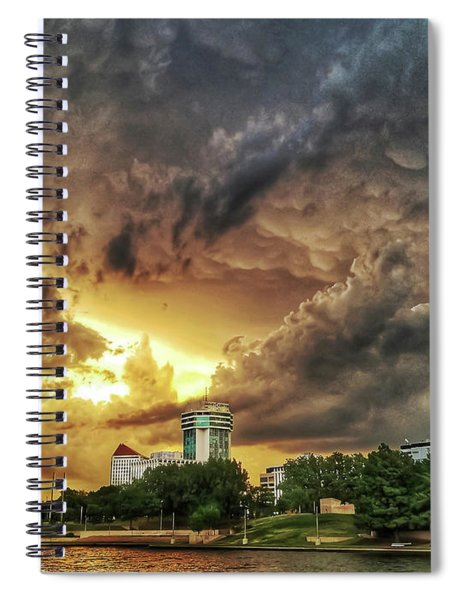 Ict Storm - From Smrt-phn L Spiral Notebook