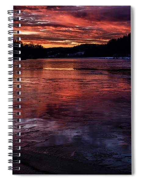 Icy Dawn On The Lake Spiral Notebook