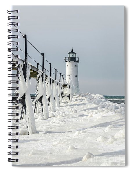 Icy Fringe On The Catwalk - Vertical Orientation Spiral Notebook