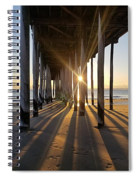 Icy Pilings At Sunrise Spiral Notebook