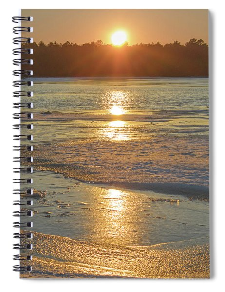 Icy Sunset Spiral Notebook