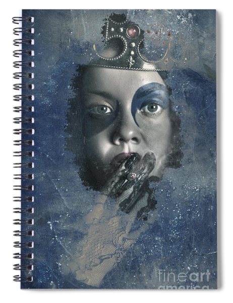 Icy Window Reflection. Wicked Queen Of Winter Spiral Notebook