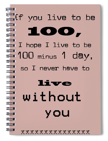 If You Live To Be 100 Spiral Notebook