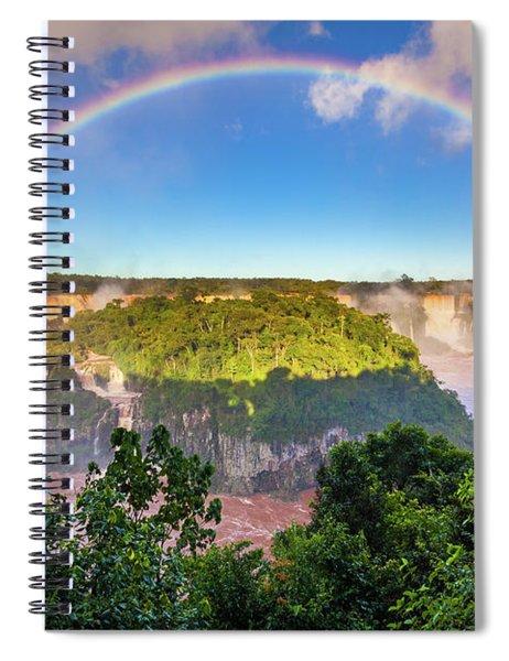 Iguazu Rainbow Spiral Notebook by Inge Johnsson
