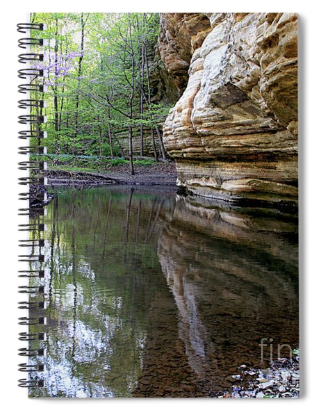 Illinois Canyon In Spring Starved Rock State Park Spiral Notebook