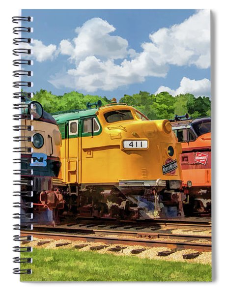 Illinois Railway Museum Diesel Locomotives Spiral Notebook