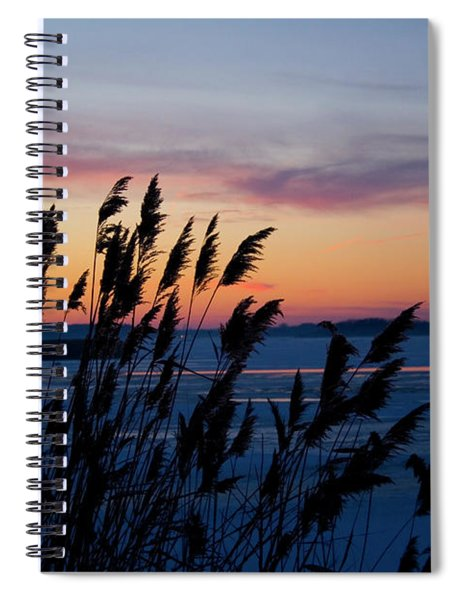 Illinois River Winter Sunset Spiral Notebook