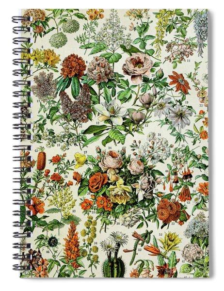 Illustration Of Flowering Plants Spiral Notebook