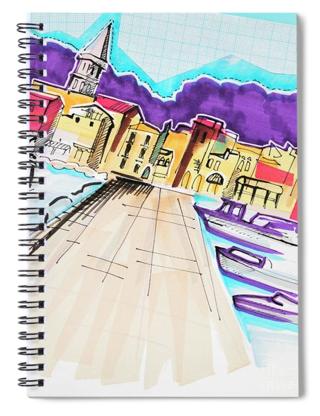 illustration of travel, Italy Spiral Notebook