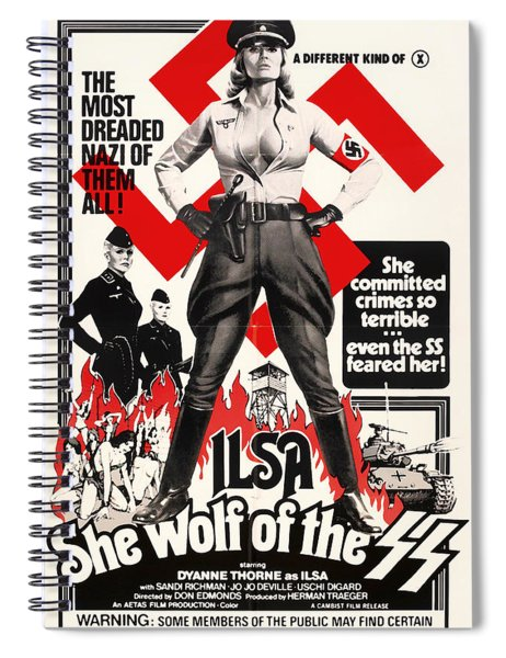Ilsa - She Wolf Of The Ss 1975 Spiral Notebook