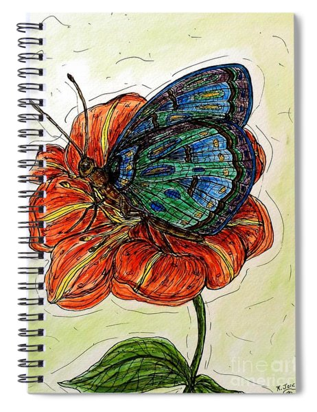 Imagine Butterflies A Spiral Notebook