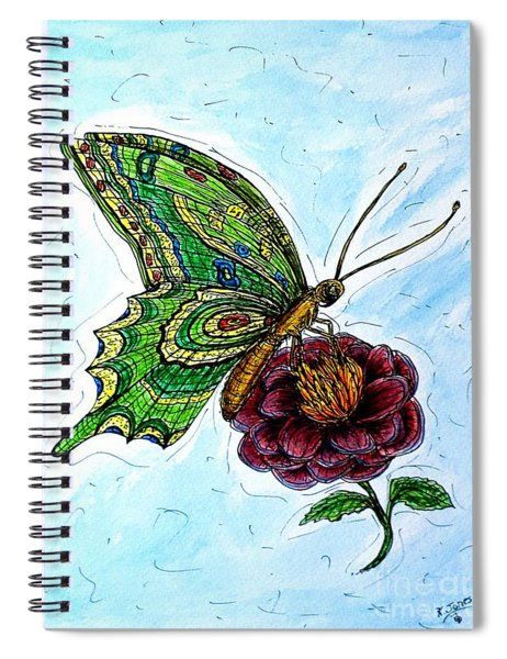 Imagine Butterflies B Spiral Notebook